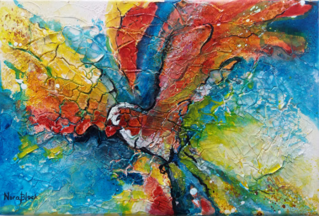 """Phoenix"", 20 x 30 cm, mixed media"