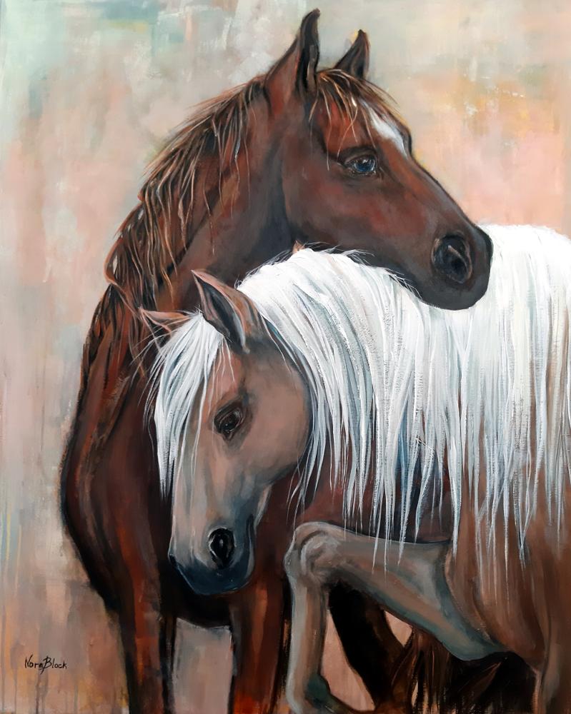 """""""Harmony"""", 100 x 80 x 2 cm, Acryl auf Leinwand"""