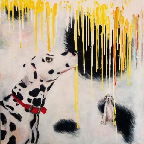 """""""Changes"""", Acryl auf Leinwand, 80 x 80 cm"""